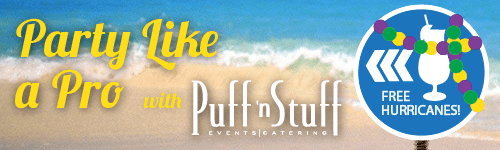 Party Like a Pro Hurricane Party with Puff 'n Stuff Catering and Free Hurricanes