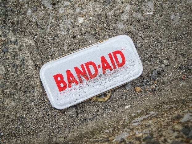 band-aid on sand