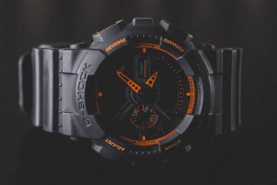 Black and Orange Casio G-Shock Outdoor Watch