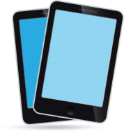 Two electronic tablets