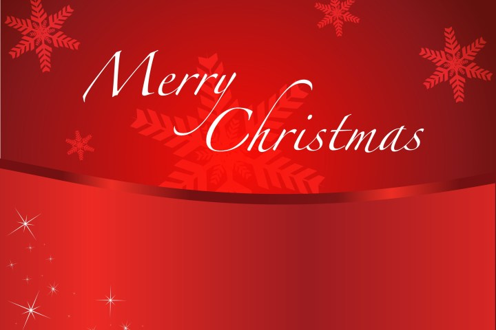 Merry Christmas on a red background