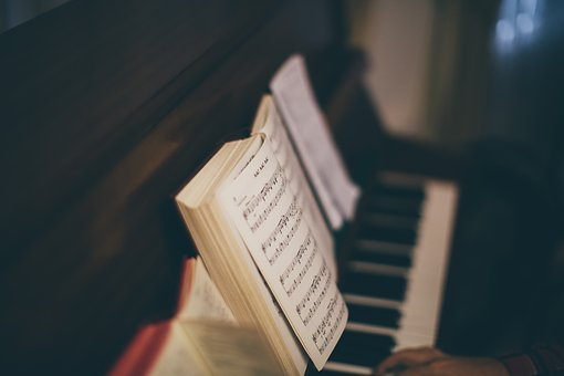 Hymnbook on a piano