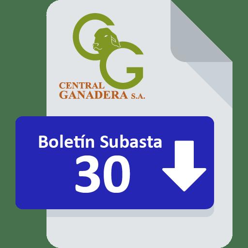 Resultados Subasta 30