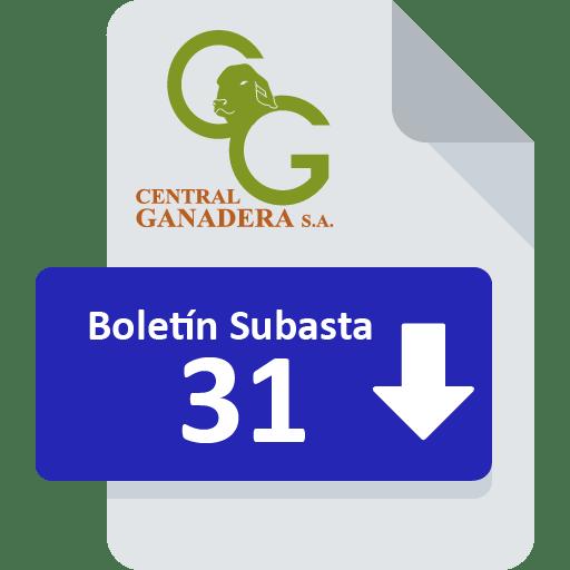 Resultados Subasta 31