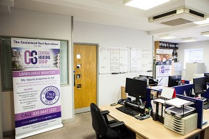 Inside the Central Housing Group offices in Cockfosters, Hertfordshire