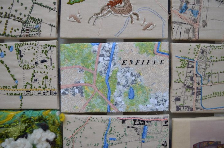Tiled map of Enfield
