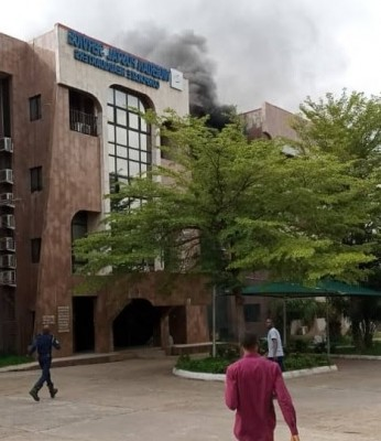 Nigerian Postal Service headquarters on fire - News and Gist Blog in Nigeria