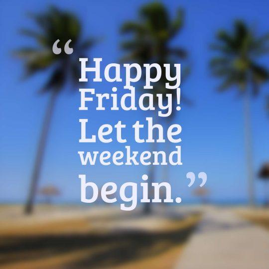 Happy Friday! Let the weekend begin.