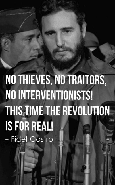 No thieves, no traitors, no interventionists! This time the revolution is for real!