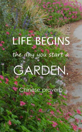 Life begins the day you start a garden.