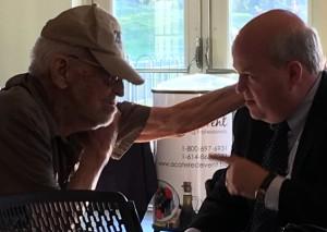 Lifetime Achievement Award winner Doral Chenoweth (left) and Appreciation Award winner Ben Marrison
