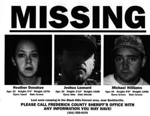 Cartazes de desaparecidos com fotos dos atores foram espalhados para aumentar os rumores de que aquilo era real