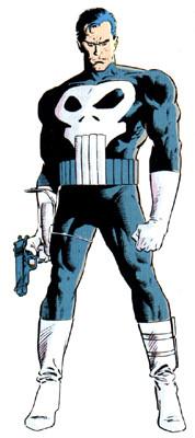 Visual clássico do Justiceiro