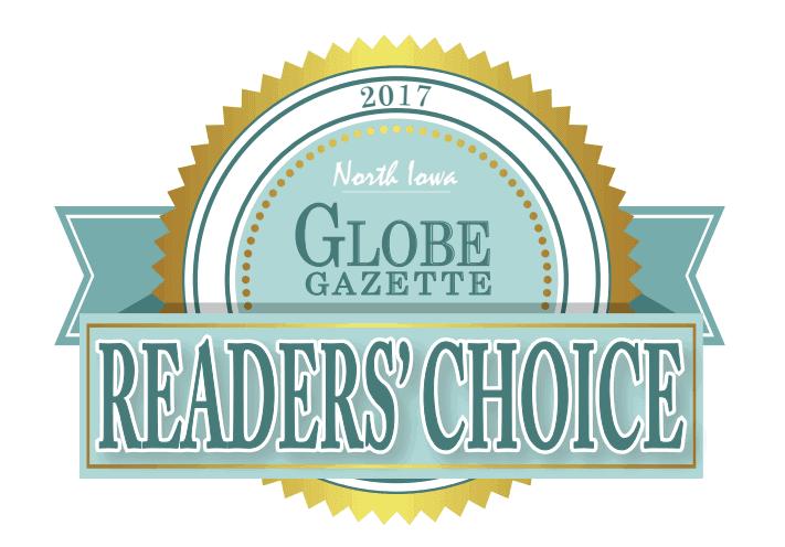2017 Globe Gazette Reader's Choice Award