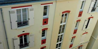 ravalement plâtre et peinture minérale - PARIS 10