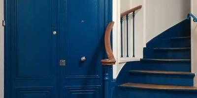 peinture et parquet de la cage d'escalier - PARIS 18