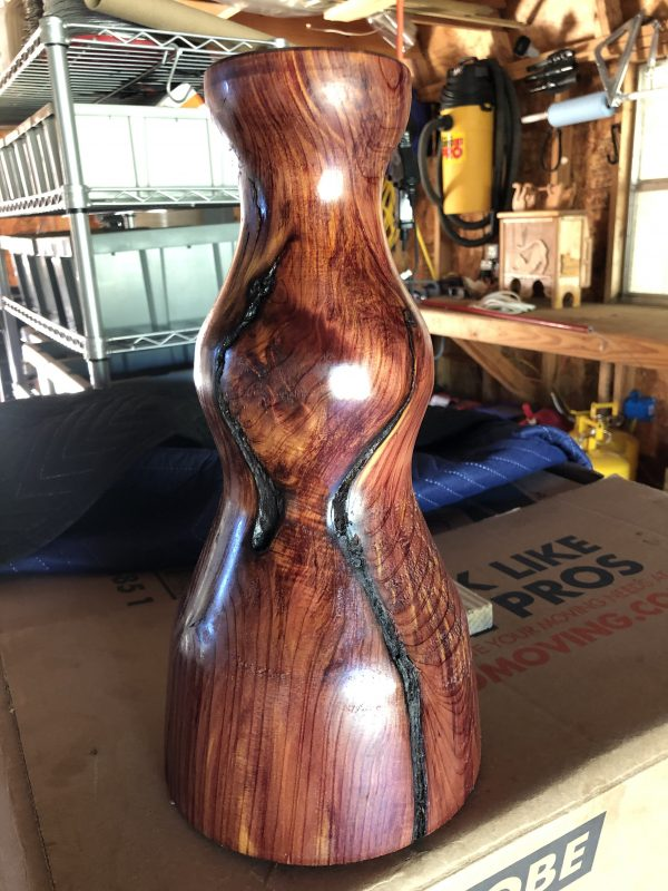 Custom Cedar Lamp