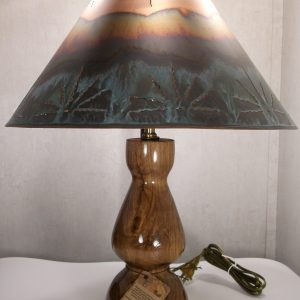 mesquite wood table lamp