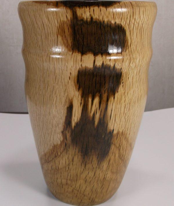 oak wooden vase