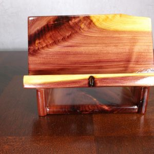 Cedar phone stand