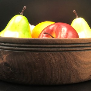 Mesquite fruit bowl