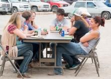 Rodeo team members enjoying the evening.