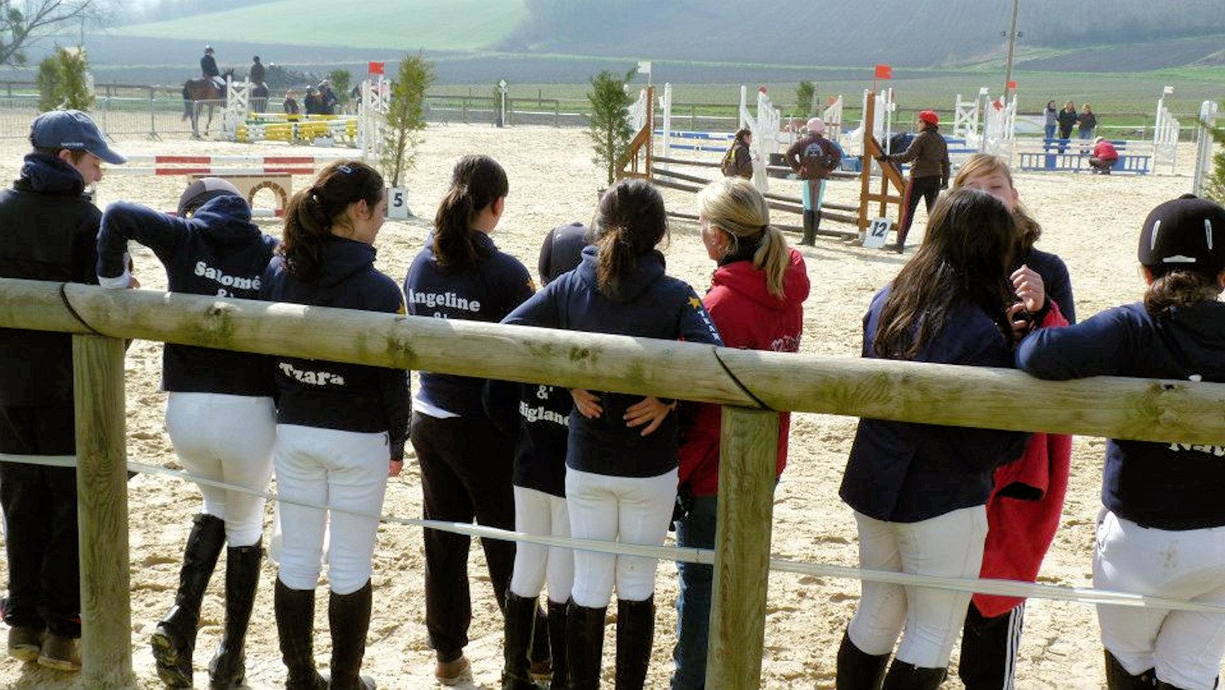 L'equipe de concours en préparation