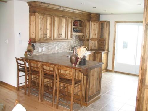 armoire cuisine noyer