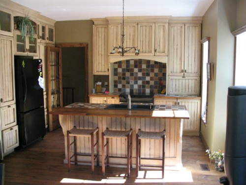 armoire de cuisine champetre
