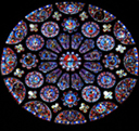 Chartres - Rose du transept Sud