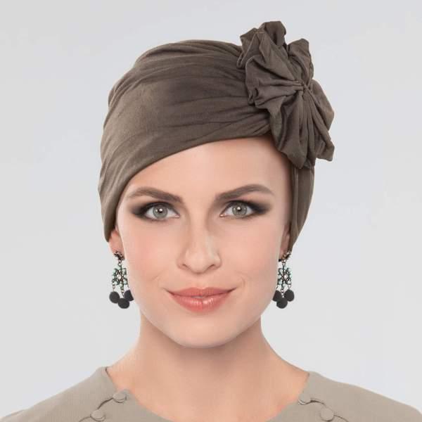 Dory - Bonnet fleur Joceli de la collection Ellen's Headwear. Vu de face