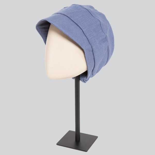 Tadea bleu - Casquette bonnet chimio de la collection Ellen's Headwear.