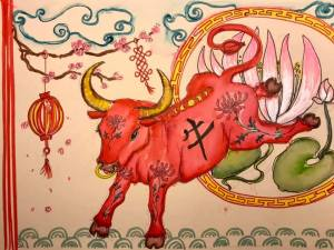Bee Hayes - Chinese New Year Ox Drawing