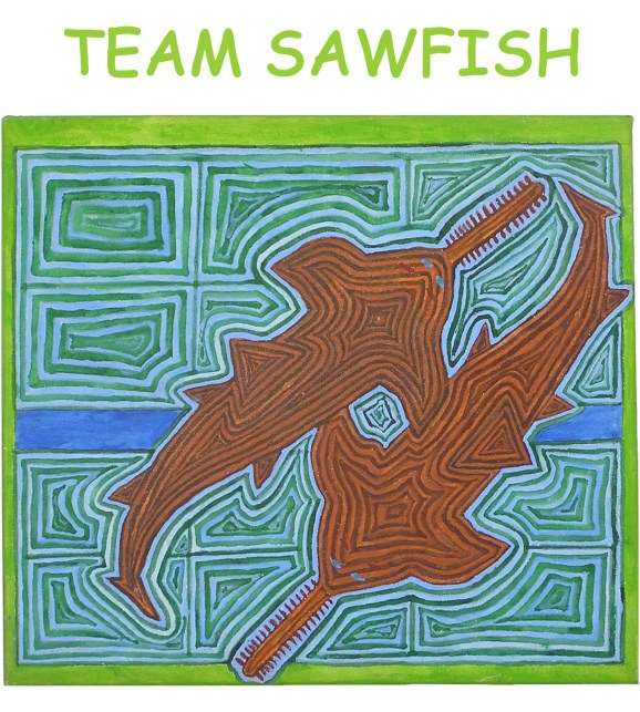 Team Sawfish pocket graphic