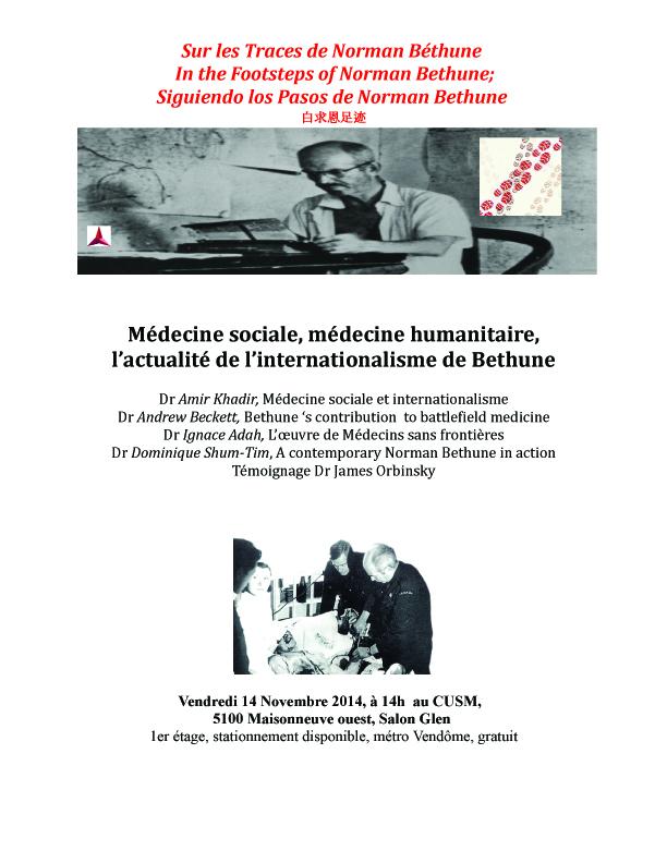 médecine sociale et internationalisme Normand Bethune