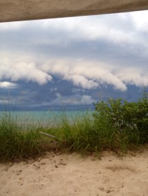 Wall cloud in Ipperwash - Mark