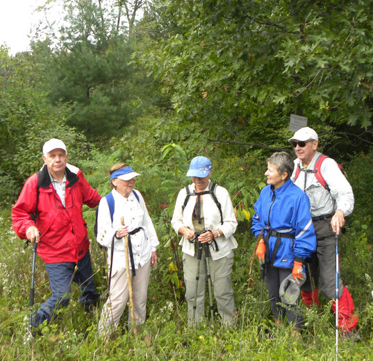 Hikers begin their trek along the Ausable Hiking Trail in 2015. Members of the Lambton Outdoor Club want to reintroduce the public to the historic trail, partly to save it, as club members say the trail hasn't been well-used in recent years. (Submitted photo)