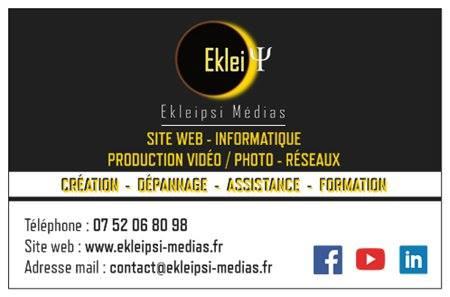 carte de visite d' Ekleipsi Médias