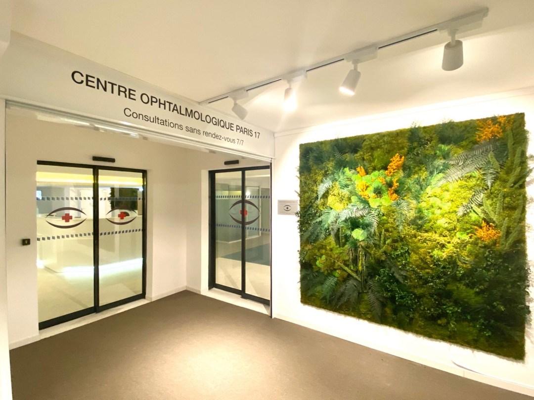 Centre Ophtalmologique Paris 17 SOS oeil - Mur végétal