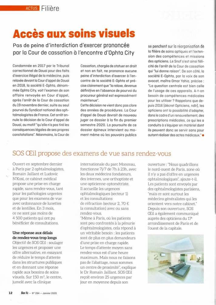 article SOS Oeil Paris 17