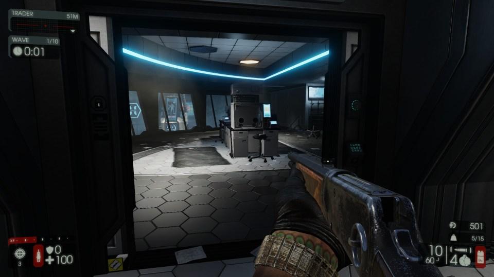Capture d'écran du jeu Killing Floor 2, vue première personne
