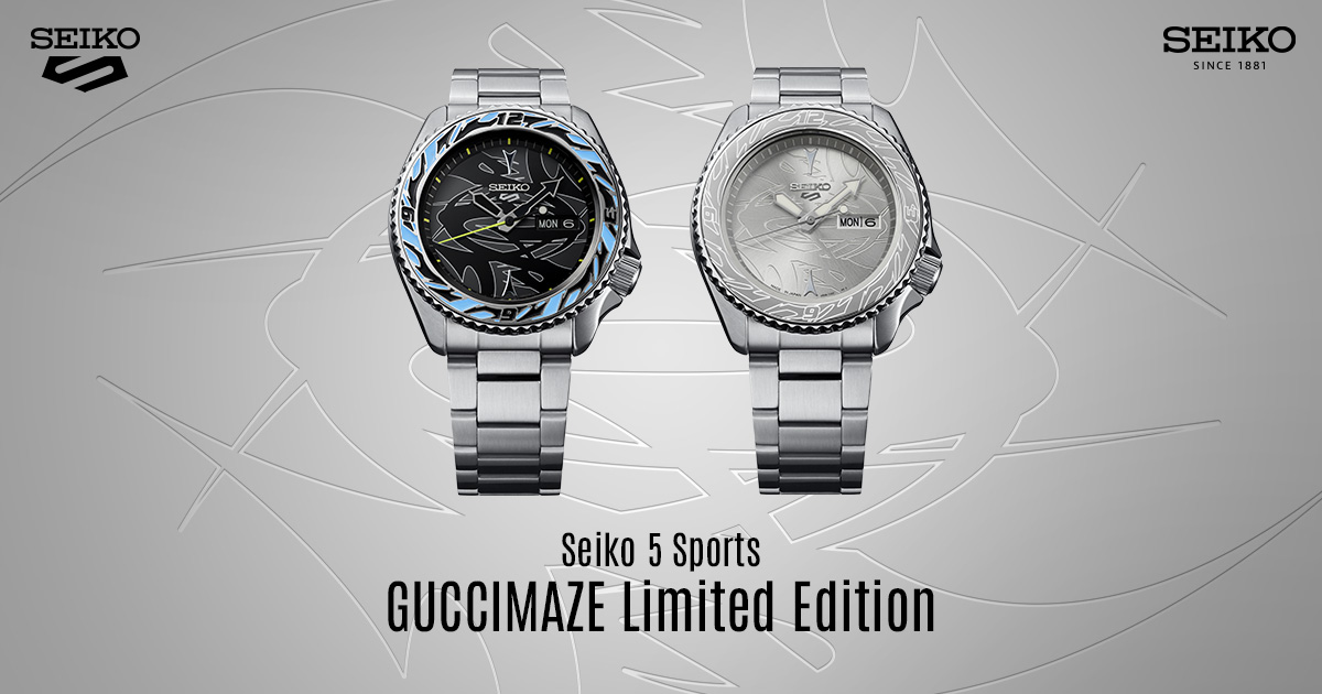 Seiko 5 Sports x GUCCIMAZE Limited Edition range lands in M'sia – from RM2,610