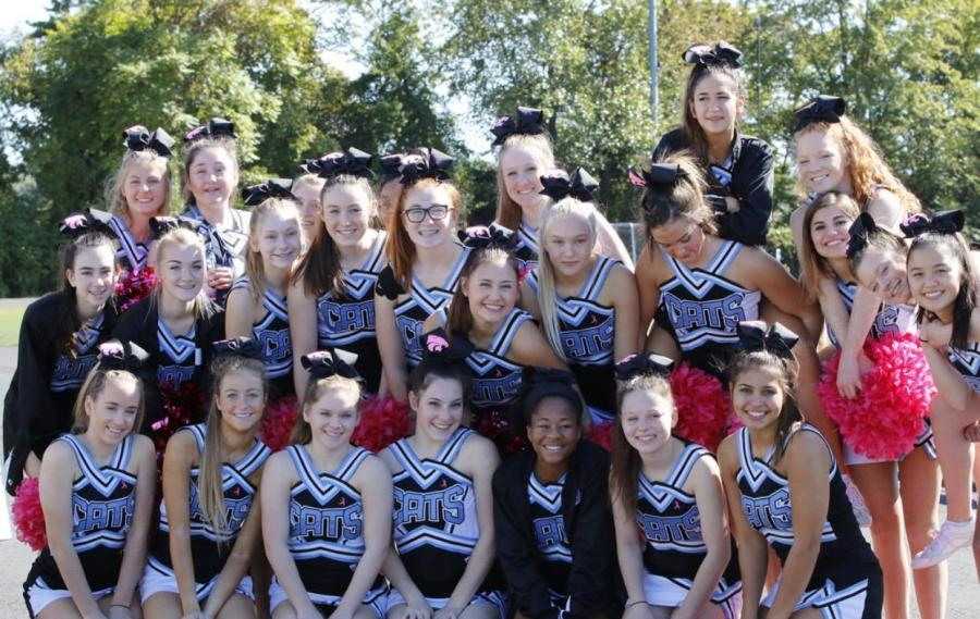 This is the varsity team at a game in October.