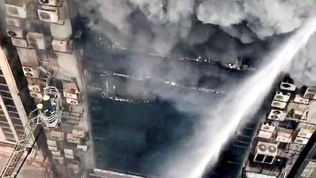 Huge Fire in an Office Building