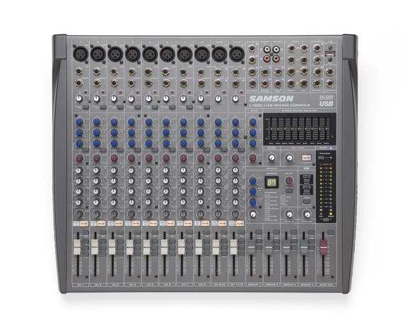 Samson L1200 12-Channel/4-Bus Professional Mixing Console
