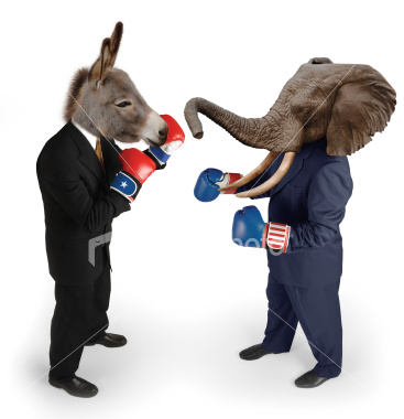 democrat and republican fighting