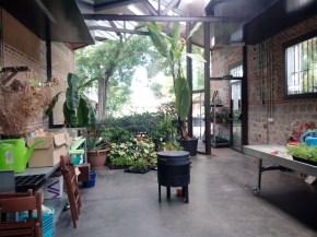 Zona de taller y vermicompostadora
