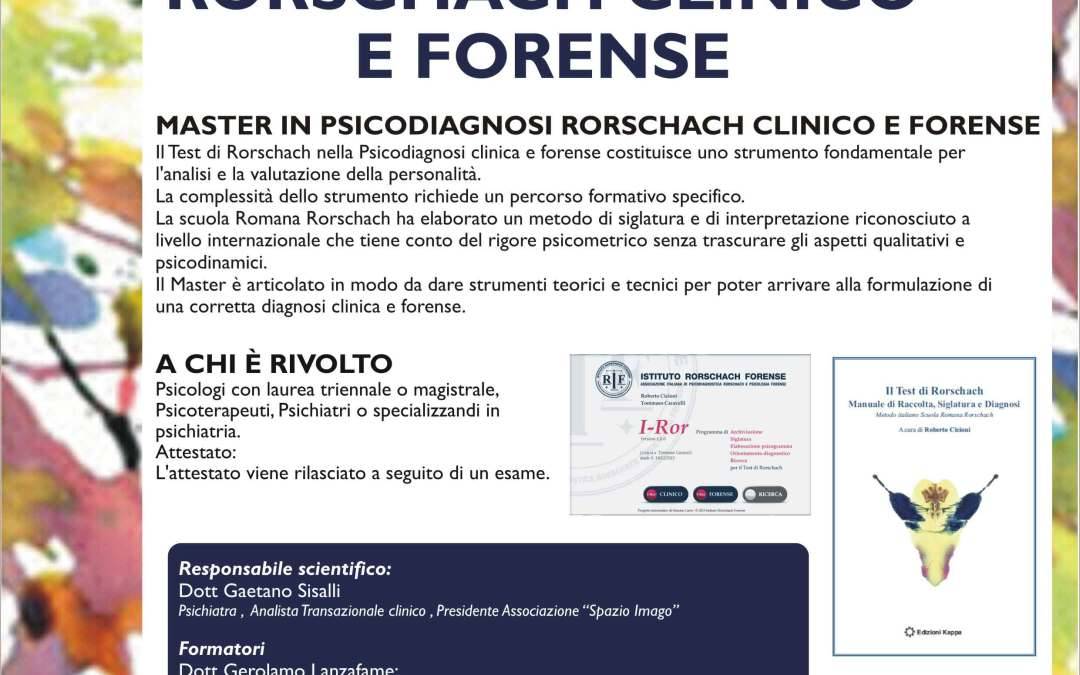 Master in Psicodiagnosi Rorschach clinico e forense