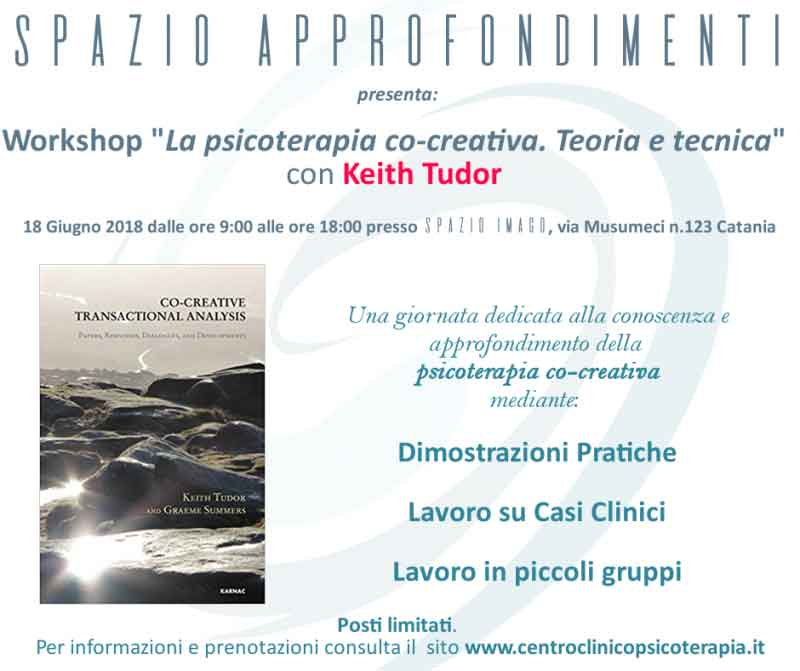 "Workshop ""La psicoterapia co-creativa"" con Keith Tudor"