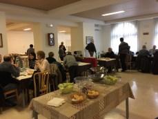 Pranzo nella sala ospiti del Seminario della Salute